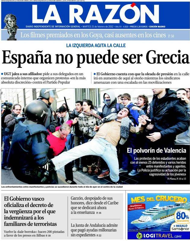 Francisco marhuenda y sus portadas for Espejo que no invierte la imagen